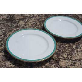 中古 緑リム16㎝皿